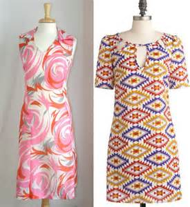 1960s fashion women dresses abstract printed dresses