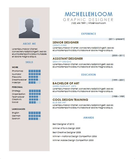 Cv Resume Exle by Contemporary Resume Template 4 Free Word Excel Pdf