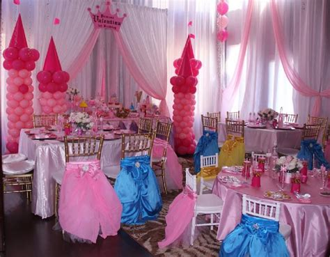 princess themed party entertainers event design company party rental draping