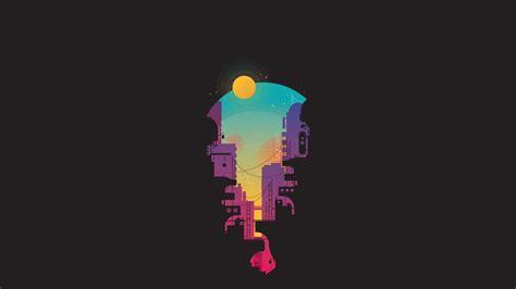 city minimalism full hd wallpaper