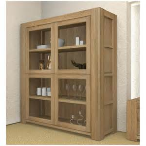 Living Room Display Furniture Atlas Solid Chunky Oak Living Room Furniture Large Glazed Display Cabinet Ebay