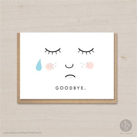 free goodbye card template goodbye card printable farewell card bon voyage card