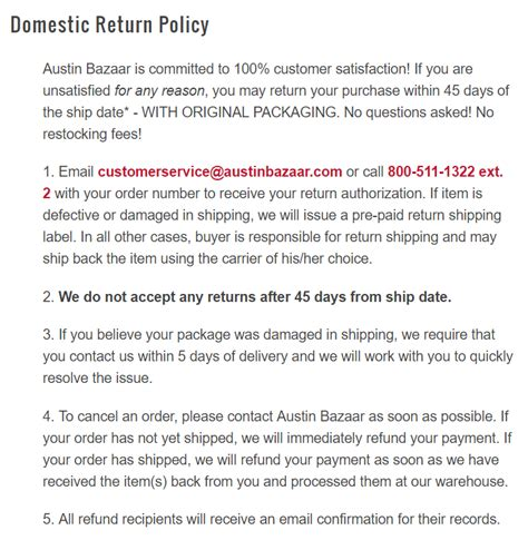 How To Write An Ecommerce Return Policy Template And Exles Return Policy Template
