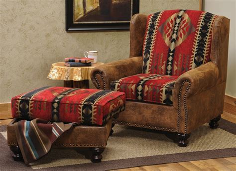 lodge couch rambler chair and storage ottoman