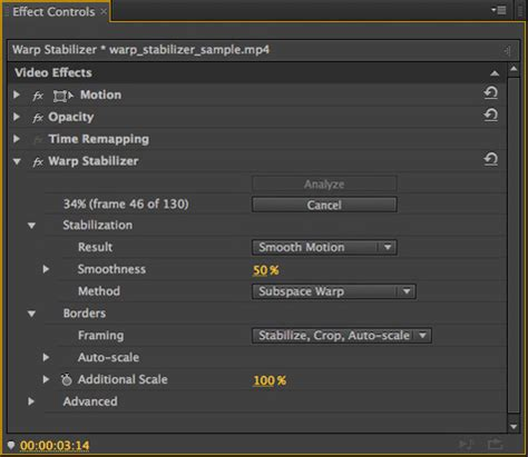 adobe premiere cs6 warp stabilizer stabilizing footage with the warp stabilizer in adobe