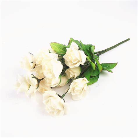 fake flowers bunch of 12 varied small roses artificial flowers bouquet