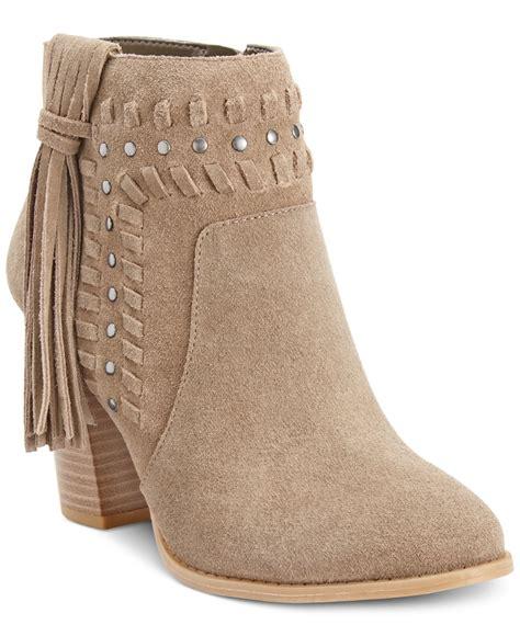 macys womans boots inc international concepts s jade suede fringe
