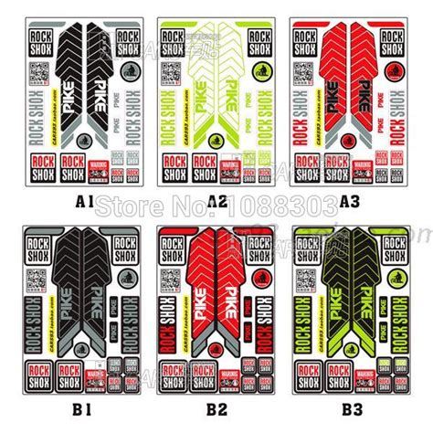 Rockshox Frame Stickers by 1 Pair Mtb Sticker Decals Mountain Bike Bicycle Stickers