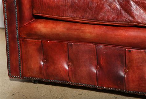 leather chesterfield sleeper sofa mahogany red leather chesterfield sleeper sofa and
