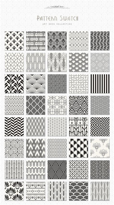 design pattern usage the ultimate 1920 s art deco patterns bundle to create