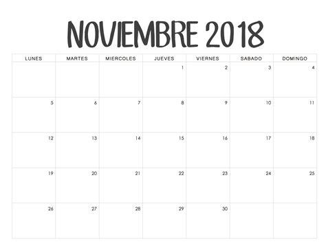 Peru Calendrier 2018 Calendario Noviembre 2018 Para Imprimir Pdf Excel Word