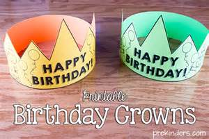 Happy Birthday Crown Template by Birthday Crown Certificate Chart Prekinders