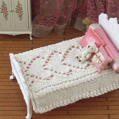 knitted bedspread be mine knitted hearts bedspread for 1 6 scale dolls