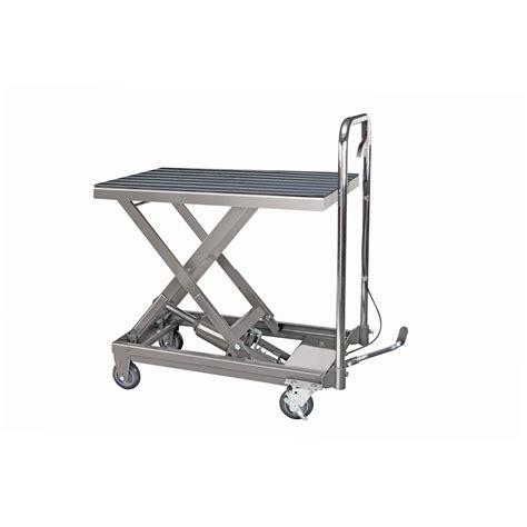 hydraulic lift table cart 500 lb capacity hydraulic table cart