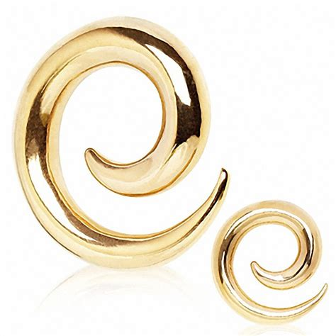 piercing 233 carteur spirale plaqu 233 or