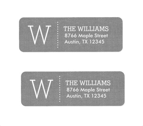 9 return address label templates sles exles