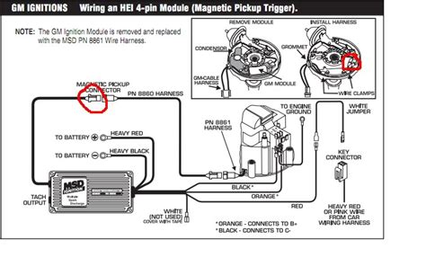 msd ignition 6al wiring diagram installing to points or amplifier style ignition msd 6a wiring
