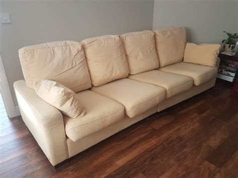 cream and gold sofa large and very comfortable 4 seater creamgold sofa for