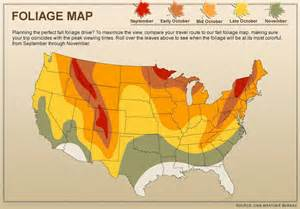 fall color map fall foliage 2012 when will leaves start to change color