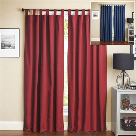 navy blue and red curtains blazing needles 108 inch twill curtain panels in navy blue