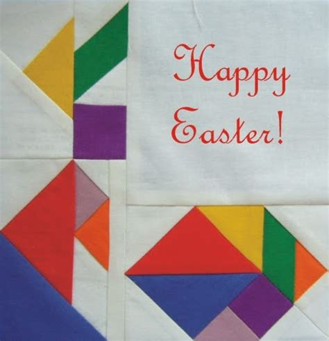 paper pattern 1 year 3patchcrafts tangram paper pieced easter bunny and egg