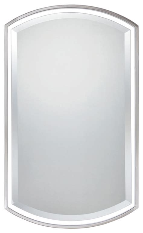 brushed nickel bathroom mirrors quoizel lighting qr1419bn mirror in brushed nickel