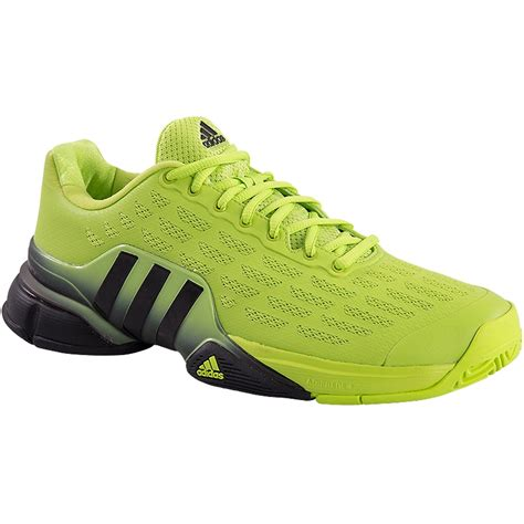 adidas tennis shoes adidas barricade 2016 s tennis shoe lime black