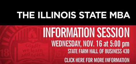 Illinois State Mba by Master Of Business Administration College Of Business