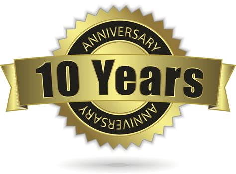 happy 10 year work anniversary free large images