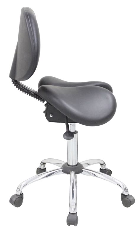 Saddle Chair With Backrest by Kanewell 901sbl Ergonomic Saddle Seat With Backrest