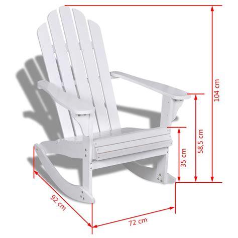sedia a dondolo legno sedia a dondolo in legno bianco vidaxl it