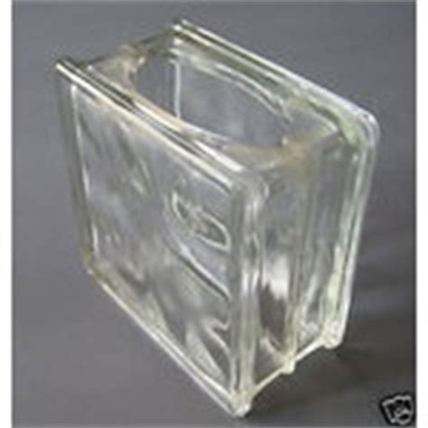 Glass Block Vase by Vintage Miniature Glass Block Vase Or Card Holder Mint 07