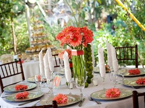 Coral Wedding Decoration With Flowers Coral Color Wedding