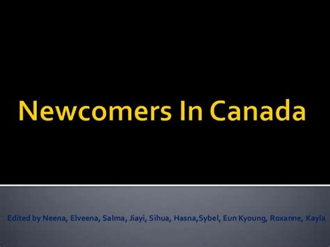 canada for newcomers the complete guide for newcomers books newcomers in canada powerpoint