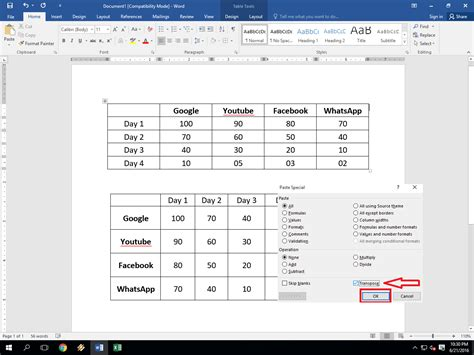 Rotate A Table In Word by Ms Word Table How To Convert Row To Column Column To