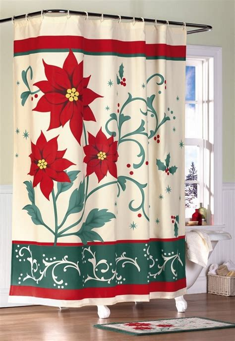 christmas bathroom shower curtains 20 christmas shower curtains christmas spirit to make