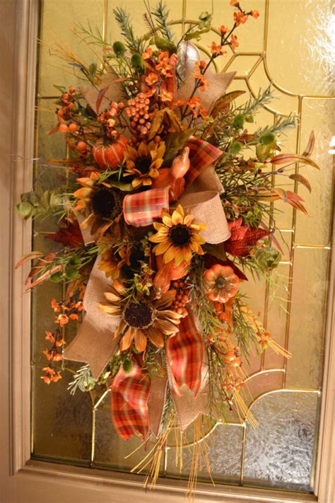 fall door swag by kristenscreations on etsy
