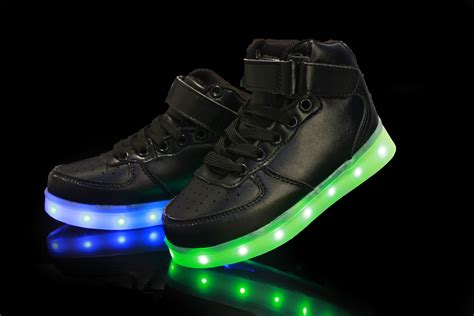 lighting sneakers usb charging led light up luminous shoes boys