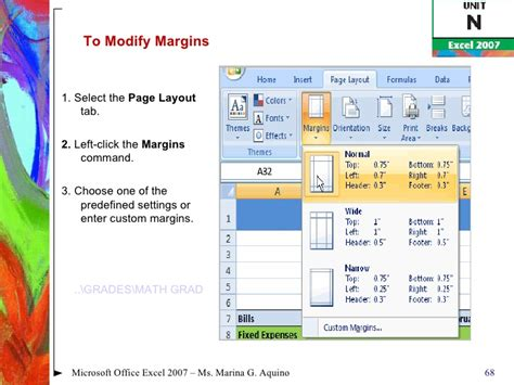 fungsi layout dalam microsoft power point fungsi tab page layout microsoft excel 2007 page layout