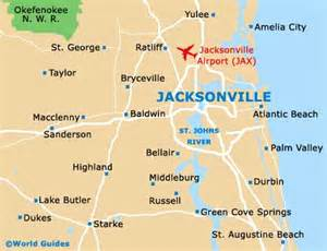 jacksonville florida on a map map of jacksonville airport jax orientation and maps