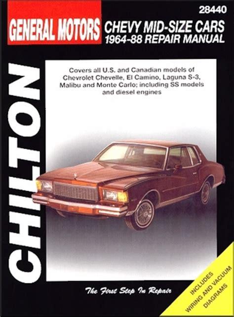 car engine repair manual 2001 chevrolet monte carlo instrument cluster chevelle el camino monte carlo repair manual 1964 1988