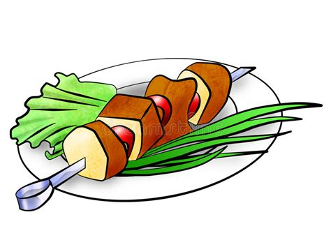 kebab clipart shish kebab illustration stock illustration illustration