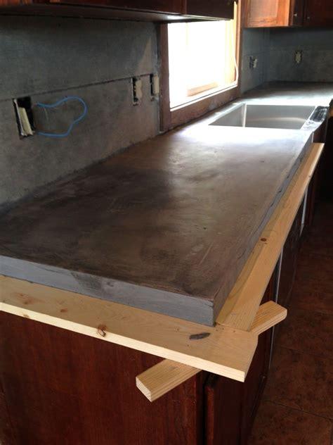 diy concrete counters poured  laminate top bloggers  followon pinterest diy