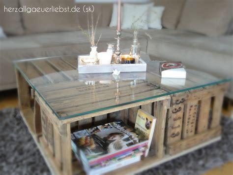 wohnzimmertisch aus alten weinkisten handmade kultur