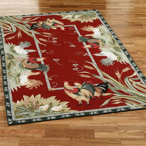 Washable Rooster Rugs by Rooster And Hens Area Rugs