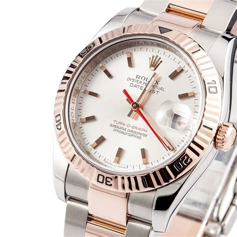 Rolex Oyster Silver Rosegold rolex datejust stainless gold 116261 save at bobs