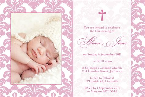 baptismal invitation layout maker baptism invitation christening invitation new