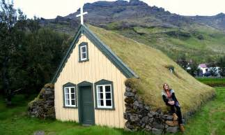 Panelled Walls by Hofskirkja Turf Church In 214 R 230 Fi In South East Iceland