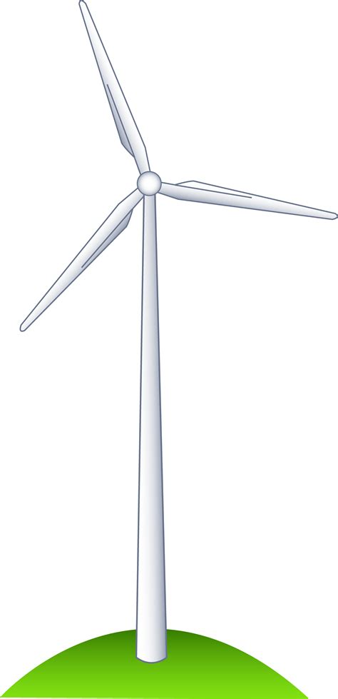 Wind Power Clipart wind turbine on a hill free clip