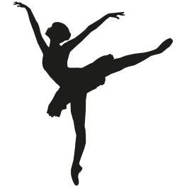 Sticker Danseuse 233 Toile Ballet Color Stickers